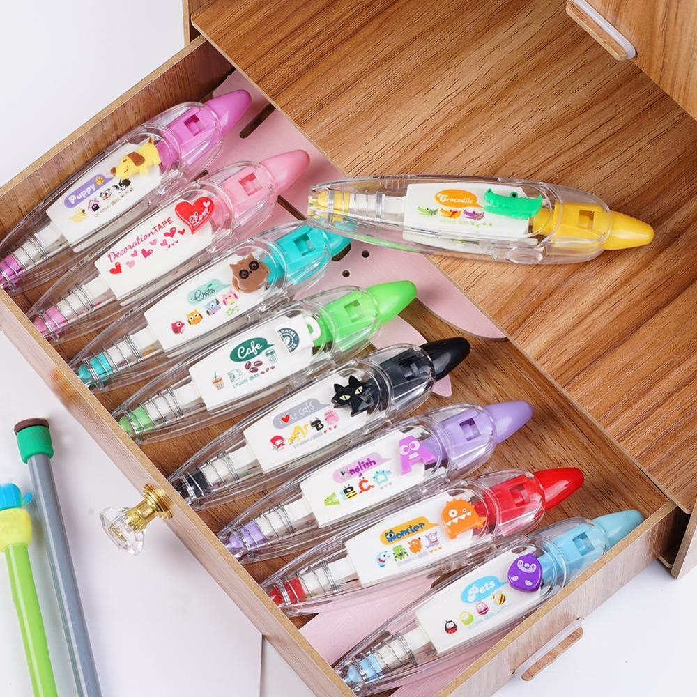Push Lace Press Type Stationery Pen Correction Tape Diary Scrapbooking Album Decoration Kids Stationery School Supplies