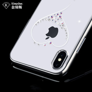 Image 4 - Bling Plating Slim Case For iPhone XS/XS Max 6.5/XR/X Back Hard Cover Crystal Diamond Luxury Brand Clear Thin Shockproof Women