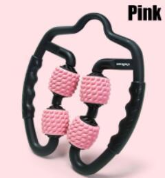 Pink - U-shaped trigger point massage roller