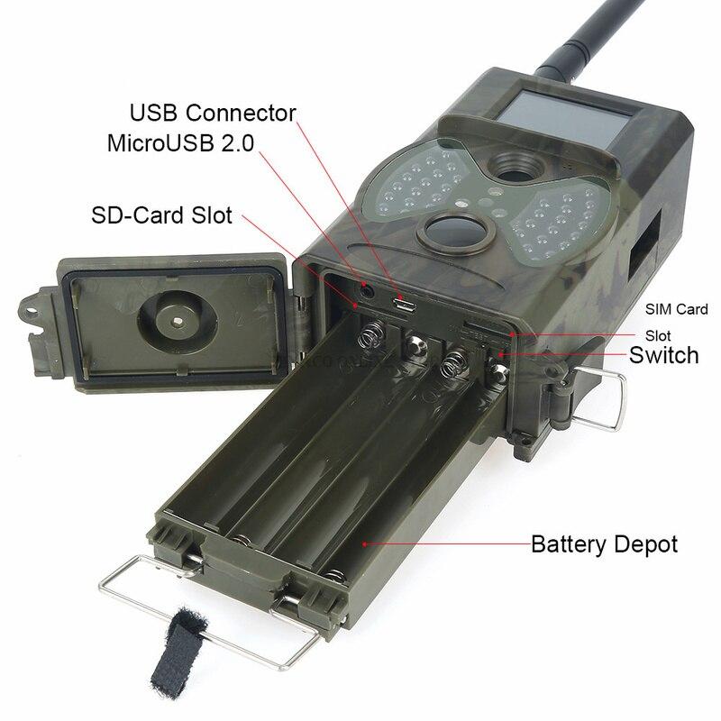 Skatolly HC300M cámara de caza GSM 12MP 1080P foto trampas visión nocturna vida silvestre infrarrojo caza Trail cámaras caza Chasse scout - 3