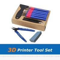 10 шт./компл.  запчасти для 3D-принтера  нож для ремонта  пинцет  лопата  машинка для стрижки  набор инструментов для очистки  набор для 3d-печати  ...