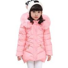 Пальто для девочек, меховые толстовки, пальто для девочек, верхняя одежда, однотонная Детская куртка, зимняя детская одежда 6, 8, 10, 12, 14