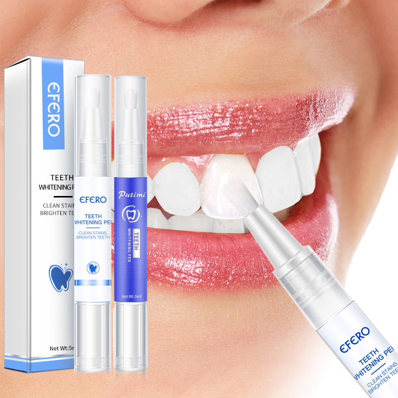 EFERO Teeth Whitening Pen Serum Toothpaste Toothbrush Cleansing Dental Tools Essence Gel Oral Hygiene Remove Plaque Stains 5ml