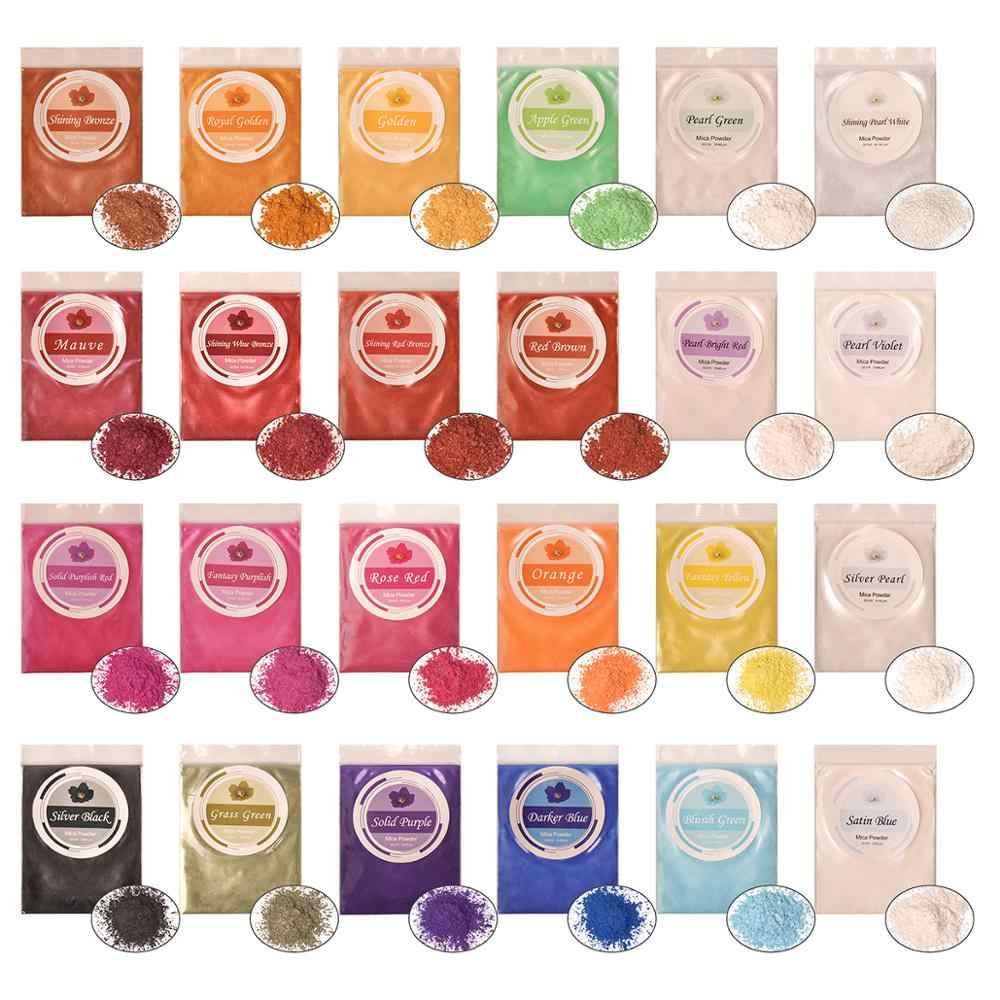 Dewel 雲母粉石鹸作る/パウダー/顔料/アイシャドウ/ブラッシュエポキシ樹脂染料真珠顔料