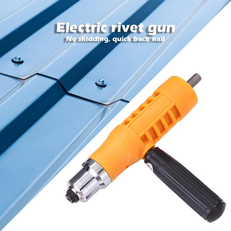 Electric Rivet Nut Guns Riveting Insert Tool Riveter Drill Adapter Kit Nut Tools Home Decoration Automobile Industry