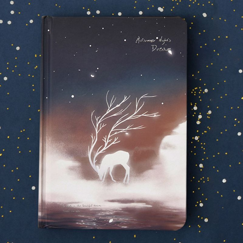 Cute Luminous Notebook Diary Paper Drawing Sketchbook Noctilucent Office Supply QX2B