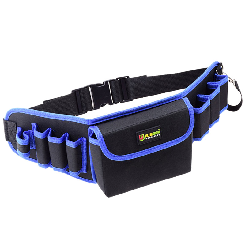 ABZC-Tool Bag With Cover Tool Belt For Screwdriver Pouch Durable Waist Tool Holder Adjustable Electric Drill Bag