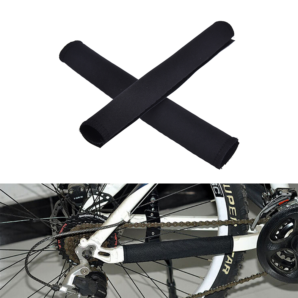 Wholesale 2Pcs  Durable Cycling Chain Stay Chainstay Bike Bicycle Guard Cover Frame Black Protector