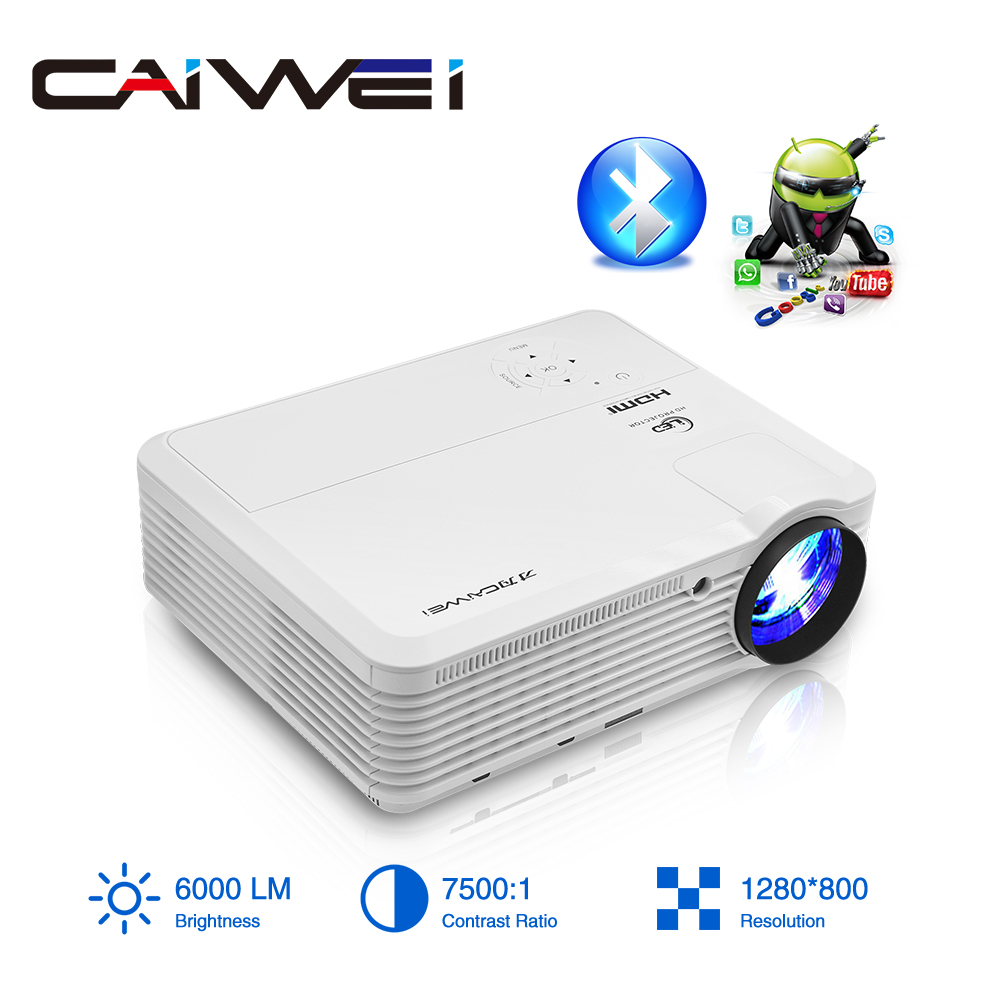 CAIWEI A7/A7AB Android Projektor 1080p Full Hd Heimkino <font><b>LED</b></font> Proyector für Unterstützung <font><b>4k</b></font> Tragbare Mobile wifi Video <font><b>TV</b></font> Beamer image