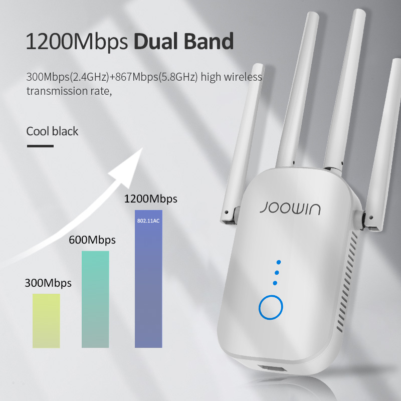300M/1200Mbps 2.4G/5GHz Wireless Extender 802.11ac Wifi Repeater Powerful Wi-Fi Router ​Long Range Wlan WiFi Amplifier 2