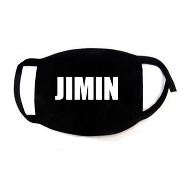Korean Super Star KPOP Bangtan Boys JIMIN V RM JIN JUNGKOOK SUGA JHOPE The Same Fans ARMY Women Men Black Print Masks Dust Proof 2