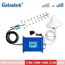 Lintratek 70db kw20l 2100mhz 3g umts 4g lte 1800 repetidor de reforço de sinal celular 1900mhz lte amplificador de telefone celular lcd conjunto s6