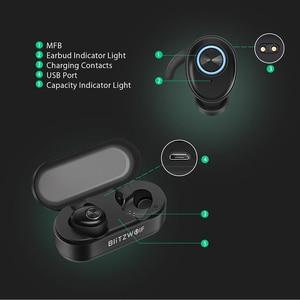 Image 3 - In Stock Blitzwolf BW FYE2 bluetooth 5.0 TWS True Wireless Earphone Sport Earbuds Twins Hi Fi Stereo Sound Bilateral Calls