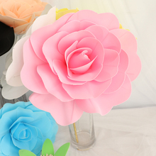 30cm Large Foam Rose Artificial Flower Wedding Decoration with Stage Props, Home Decor Decorative Flowers Wreaths