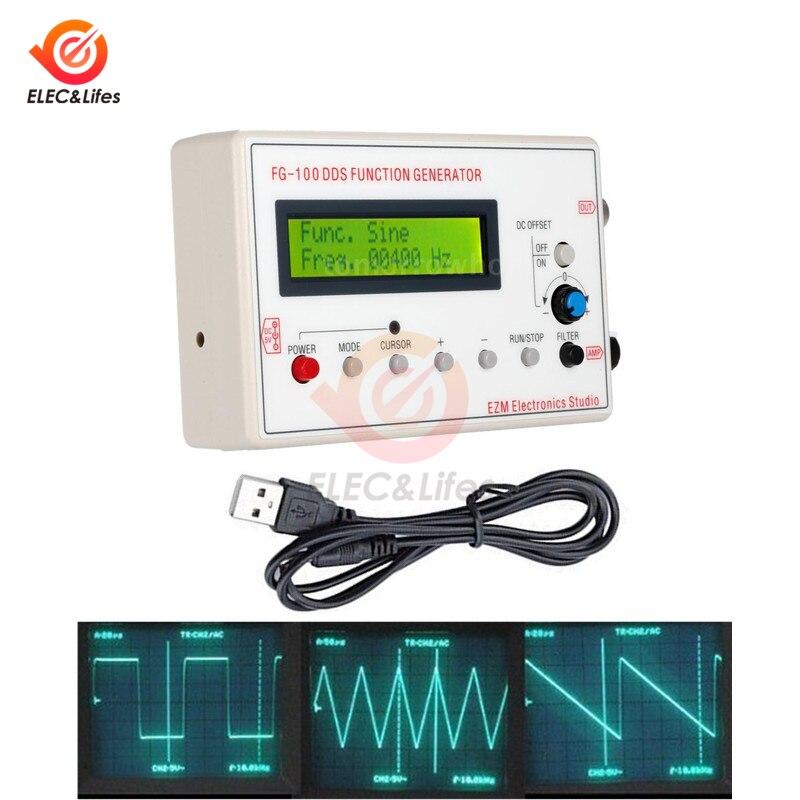 1602 ЖК-дисплей 1 Гц-500 кГц DDS генератор сигналов синусоидальный треугольный квадратный волновой пилообразный волновой счетчик частоты