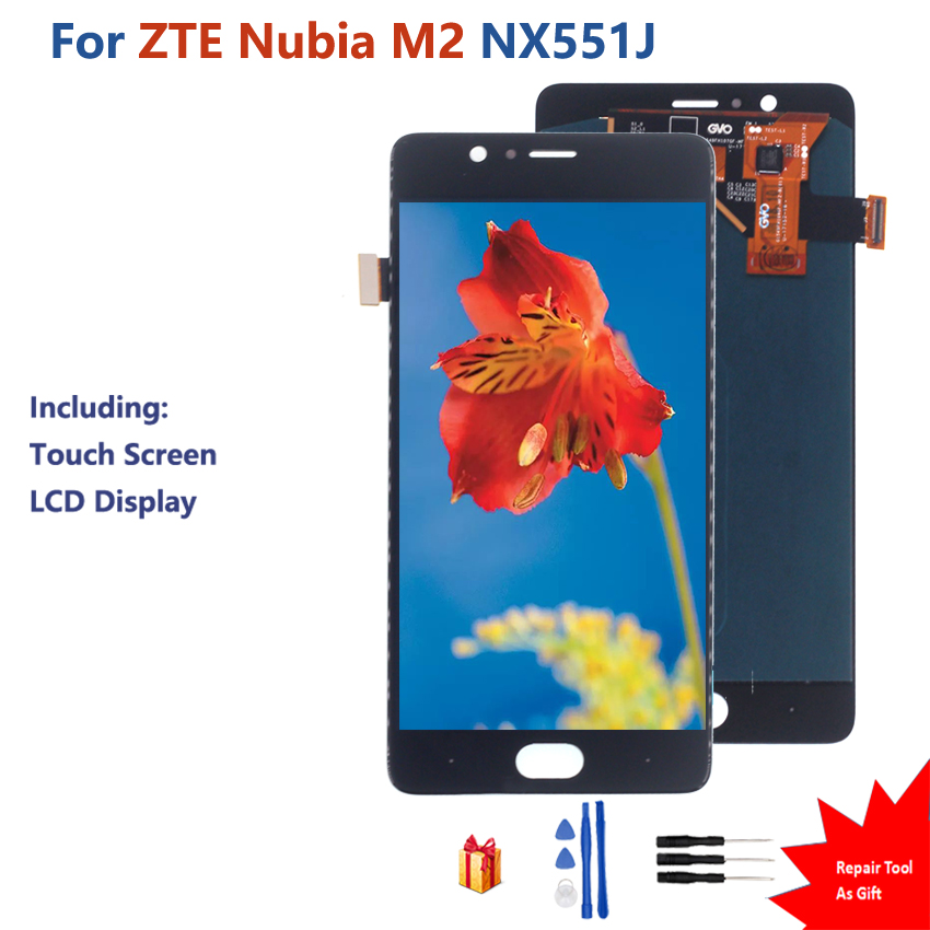 Original For ZTE Nubia M2 Touch Screen LCD Display Digitizer Assembly ZTE Nubia M2 <font><b>NX551J</b></font> Touch Screen LCD Display image