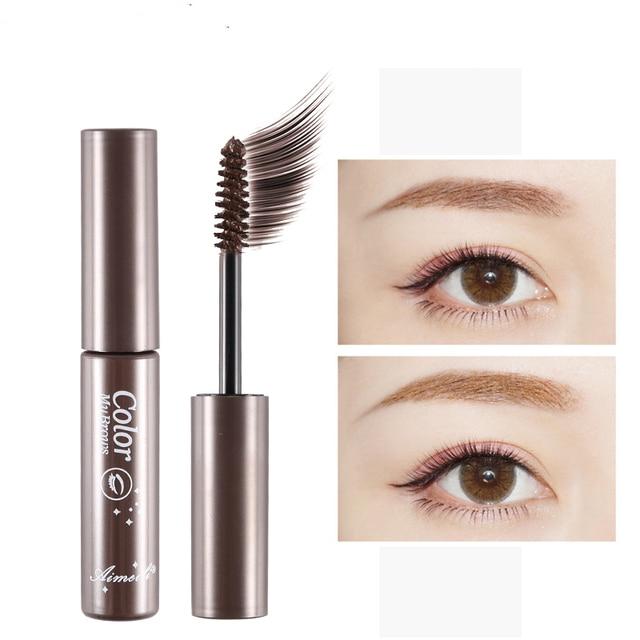 3 Colors Natural Eyebrow Enhancers Gel Tattoo Waterproof Eyebrow Mascara Cream Dye Eye Brow Tint Makeup Long Lasting Brown Gel 3