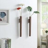 Home wand dekoration veranda wand hängen vase wohnzimmer böhmischen stil aus holz blume