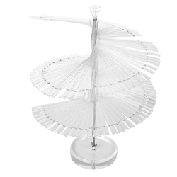 Pro espiral fã forma display suporte para 120pc falso unha arte polonês placa dicas vara