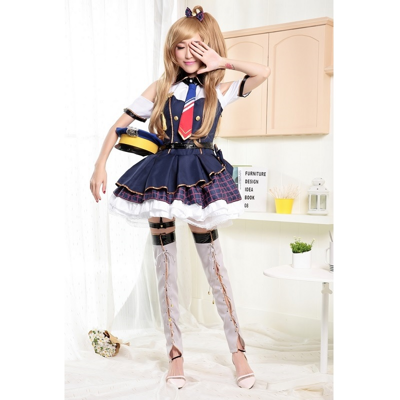 Kotori Minami COSplay Costume Valentine Day Dress Muse Uniform Outfit LoveLive