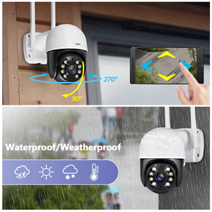 Image 4 - KERUI 야외 방수 무선 3MP 와이파이 IP 카메라 돔 4X PTZ 디지털 줌 IR 카메라 홈 보안 Onvif CCTV 감시