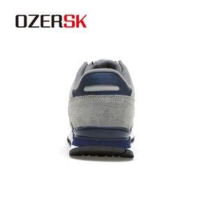 Image 3 - OZERSK מותג סתיו חורף גברים נוח פרה זמש נעלי אופנה סניקרס זכר באיכות גבוהה מעצב סיבתי נעלי גברים נעליים