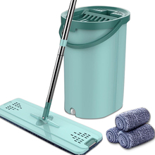 lazy triangle cleaning mop retractable instant water cleaning mop rotatable triangle dust mop for mirror glass ceiling corn Household Fat Mop Thickened Stainless Steel Retractable Mop With Bucket 360 Degree Rotatable Cleaning Mop