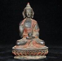 Wedding Decoration Tibet Buddhism Fane bronze Amitabha Sakyamuni Shakyamuni Medicine Buddha statue