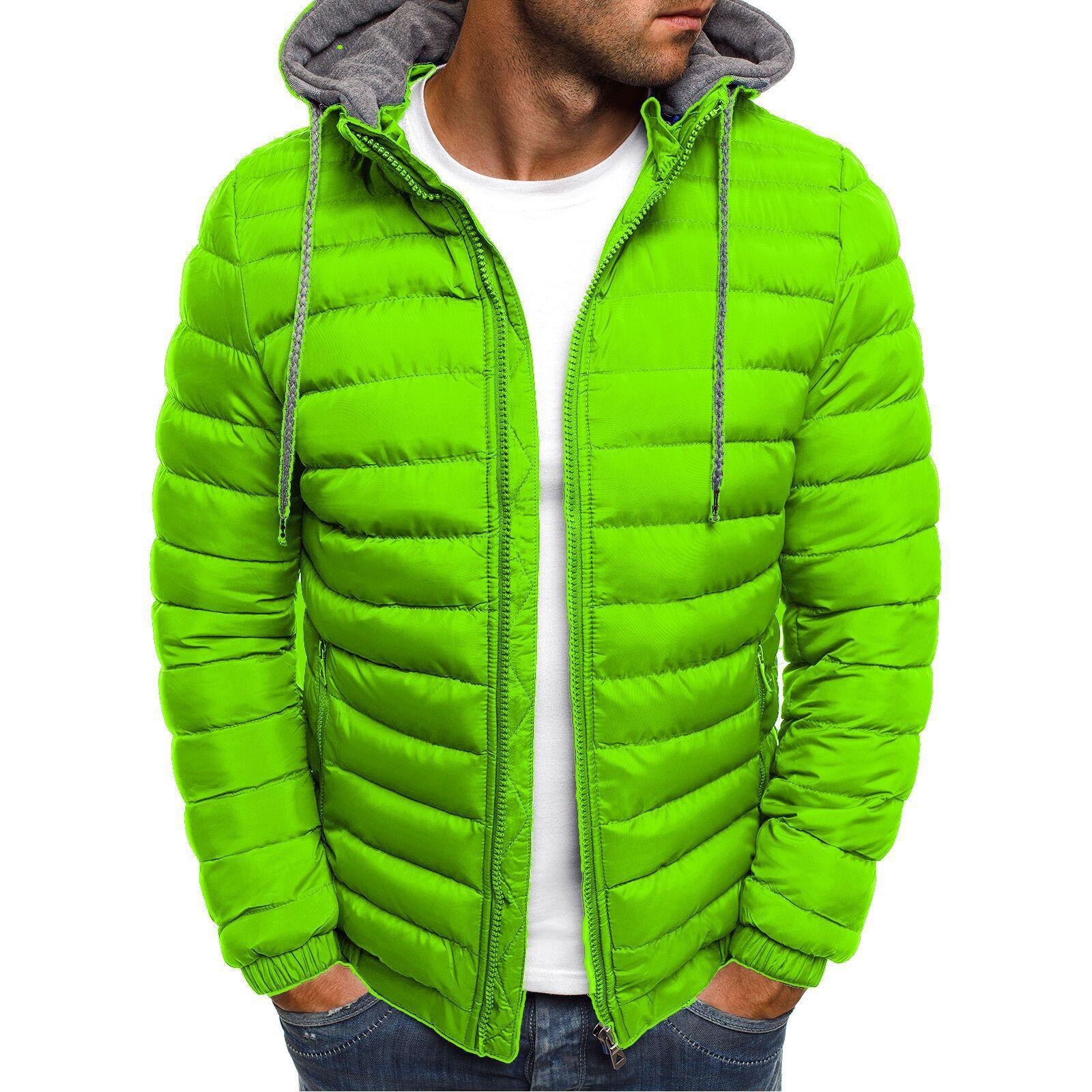 Mens Cotton Clothes Leisure Large Hat Winter Jackets and Coats  Coat Men