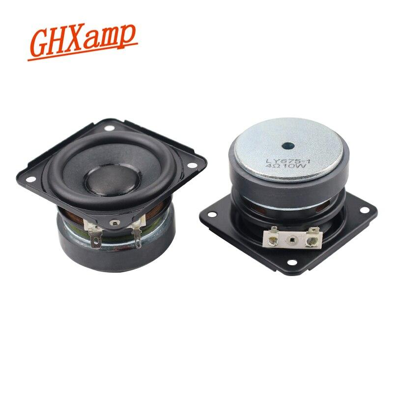 Ghxamp 2.75 Polegada alto-falante gama completa 20 núcleo 4ohm 10 w borracha falante lateral ferrite alto desempenho diy unidade de alto-falante 2 peças