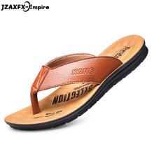 Men Flip Flops Summer 2018 Fashion Beach Cool Men Slippers Anti Slip PU Leather Solid Shoes Men Pantoffel Heren Tongs Homme