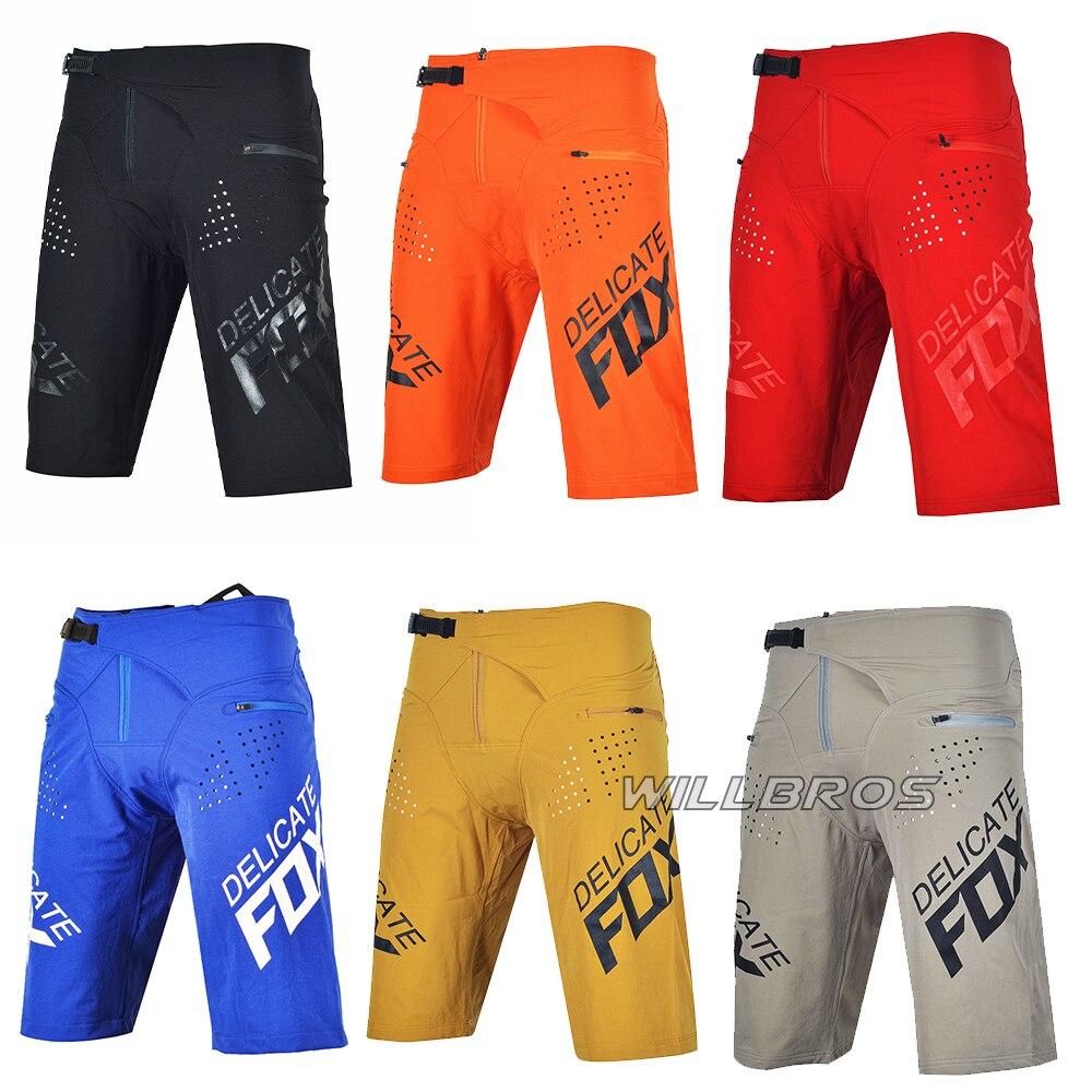 Moto Racing Flexair Shorts Delicate Fox Motocross MX Dirt Bike Mountain Bicycle Offroad Summer Short Pants Mens