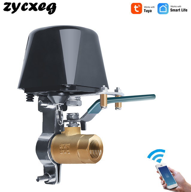 Tuya Alexa Google ev IFTTT akıllı kablosuz kontrol gaz su vanası akıllı yaşam WiFi sensörü bağlantı kapalı denetleyici