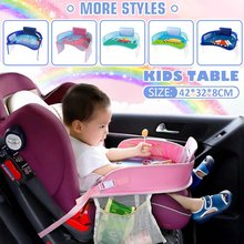 Hot Multifunctional Cartoon Car Seat Baby Child Oxford Cloth Portable Tray Mobiles Phone Holder Children's Toys Desktop Storage(China)