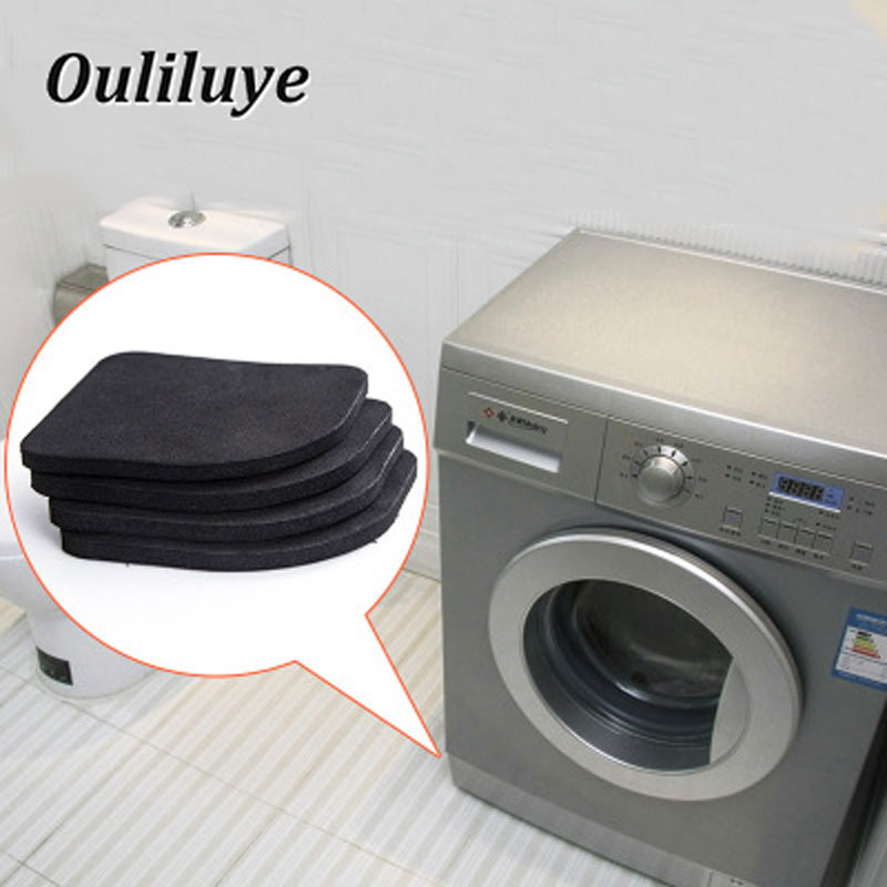 4PCS/Set Kitchen Furniture Leg Rubber Pads Multifunctional Anti-Vibration Non-slip Mats Refrigerator Washing Machine Legs Pads