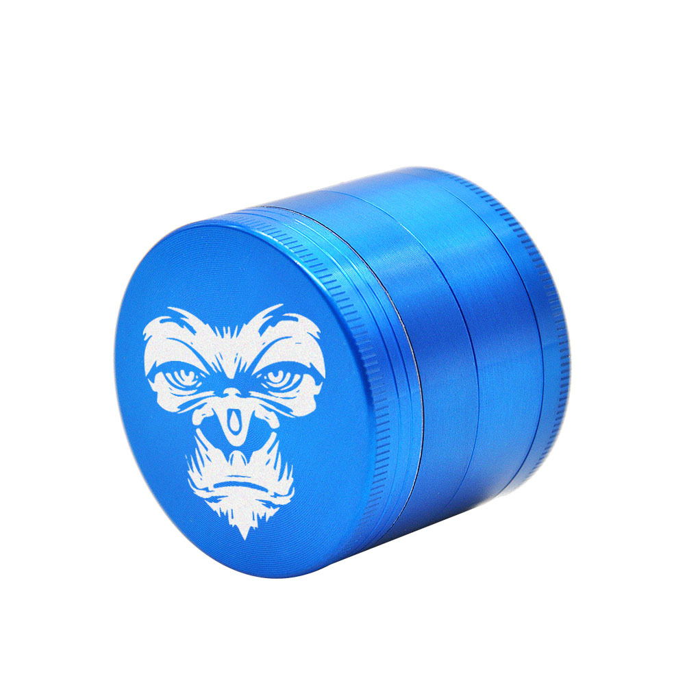 KING KONG Herb Grinder 4 Layers 50 MM Zinc Alloy With Sharp Diamond Teeth Tobacco Metal Herb Crusher Spice Mill Muller 4