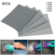 5 Pieces Sandpaper Set 2000 2500 3000 5000 7000 Grit Sanding Paper Water/Dry Abrasive SandPapers