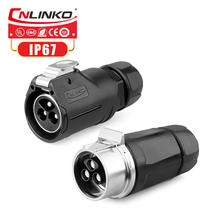 Cnlinko M28 الصناعية الطيران موصل 2 3 8 دبوس الذكور موصل قابس 15A 35A 50A 500V AC DC كابل كهربائي موصِّل إيثرنت Industrial Waterproof Solder Wire Connector Automotive Car Medical Instruments