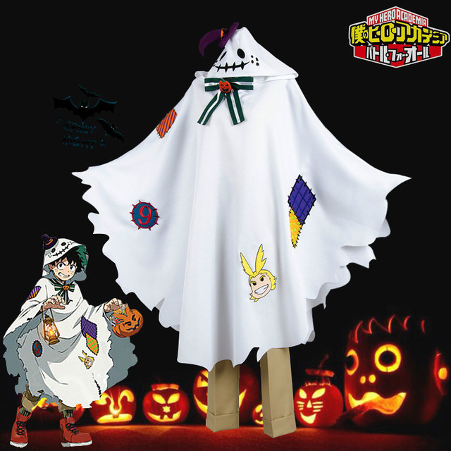 Anime Boku No My Hero Giới Học Thuật Midoriya Izuku Deku Trang Phục Hóa Trang Dễ Thương Áo Khoác Mũi Cho Halloween Giáng Sinh Tóc Giả