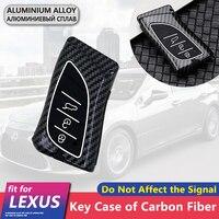 Metal Carbon Fiber Car Key Cover Case Shell 3 Buttons for Lexus ES ES300 ES330 UX UX200 UX250h LS LS400 LS430 LS460 Accessories|Key Case for Car| |  -