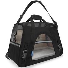حامل حيوانات أليفة الموضة أكسفورد & قماش شبكي الكلب الناقل المحمولة الكلب حقيبة عالية الجودة تحمل حقيبة للقطط تنفس القط حقيبة يد