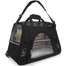 Fashion Pet Carrier Oxford & Mesh Cloth Dog Carrier Portable Dog Bag High Quality Carrying Bag for Cats Breathable Cat Handbag