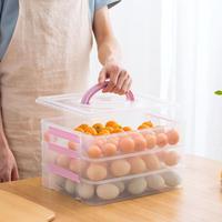 3 Layers Kitchen Supplies Portable Plastic Egg Container Case Refrigerator Fresh Storage Box Picnic Eggs Organizer Crisper