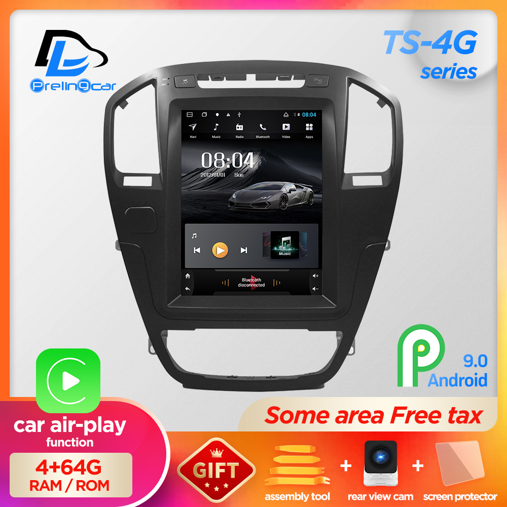 Tela vertical android 9.0 sistema do carro gps multimídia jogador de rádio vídeo no traço para opel insignia navigaton carro estéreo