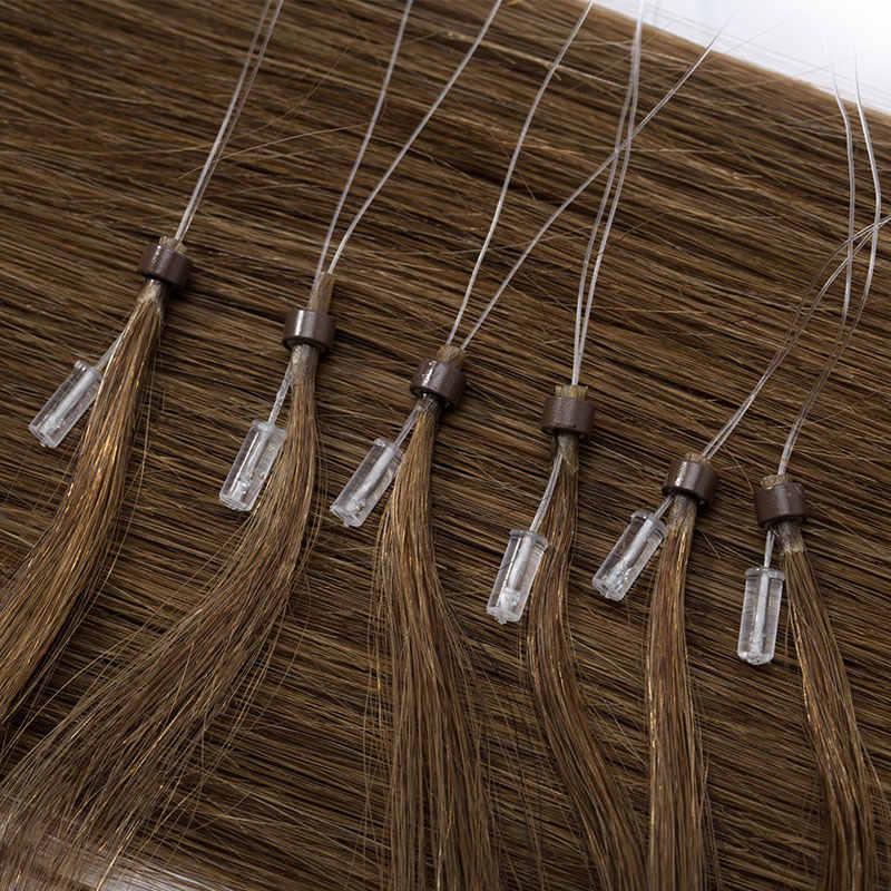 """SEGO 16 """"-24"""" 0.5 g/s 100 nici prosto Micro Bead przedłużanie włosów ludzkie włosy nie Remy Micro Loop pierścień Natrual włosy blond"""