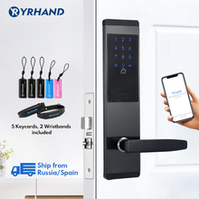 TTlock App Security Electronic Door Lock,  WIFI Smart Touch Screen Lock,Digital Code Keypad Deadbolt For Home Hotel Apartment bluetooth smart electronic keyless keypad home entry door lock with smartphone controlled for hotel and apartment compatible