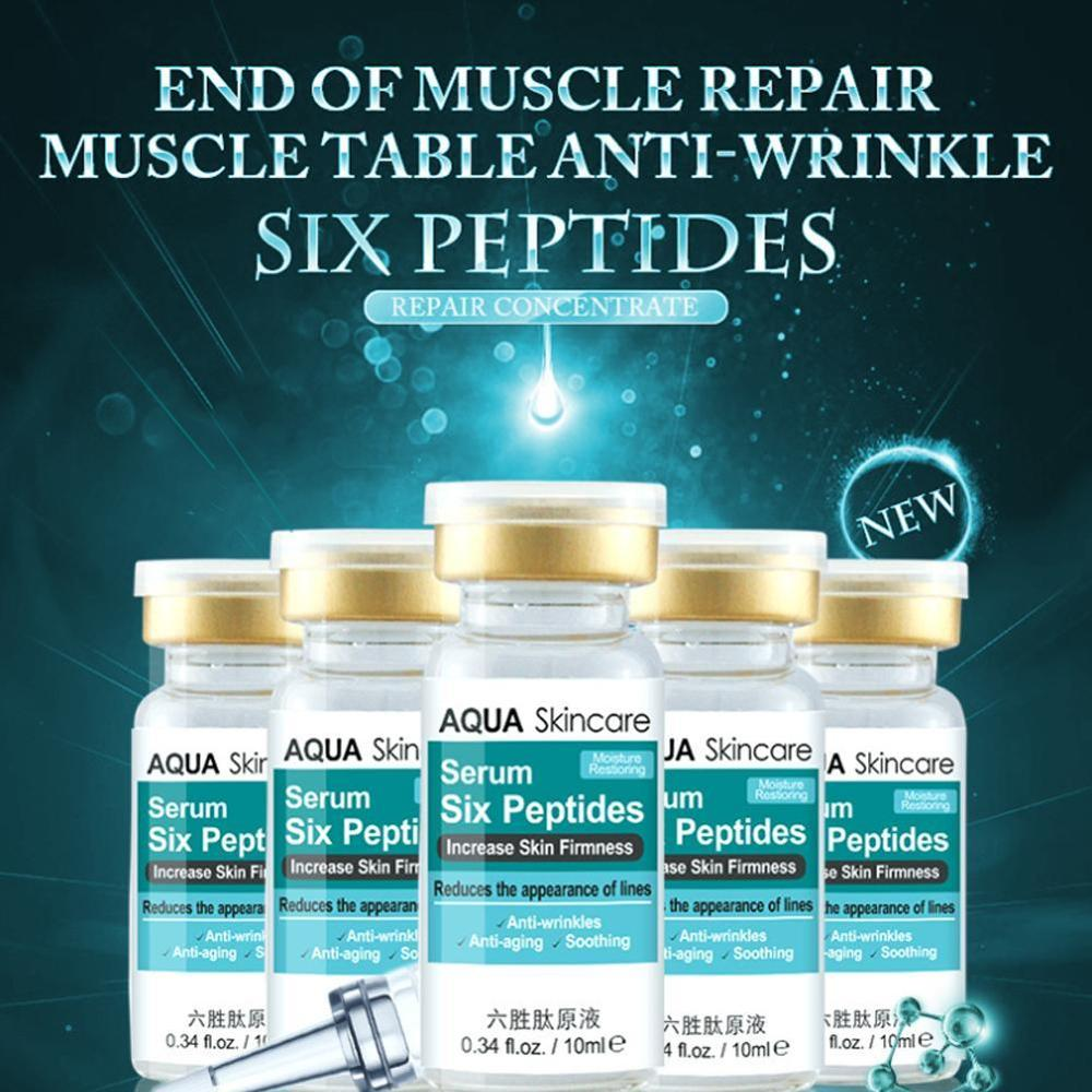 Six Peptides Anti Wrinkle Serum Face Moisturizing Liquid Skin Care Hyaluronic Rejuvenation Facial
