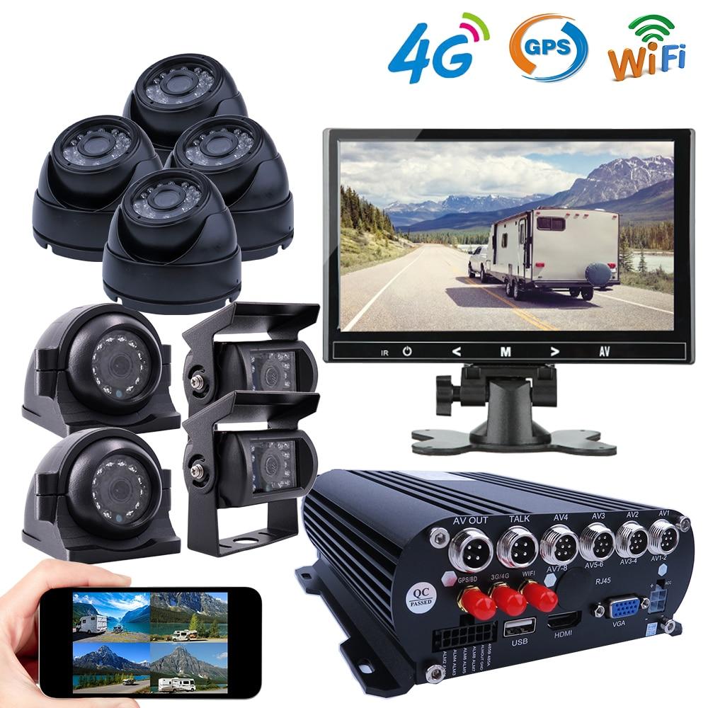 8CH 1080P 4G GPS WIFI HDD Мобильный автомобиль DVR видеорегистратор комплект SONY IP69 задняя сторона Передняя 2MP IR камера для грузовика Ван автобуса RV