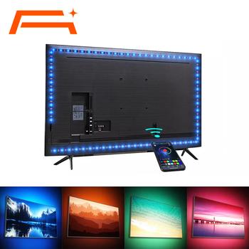 LED,Taśma LED kontrola aplikacji telewizor LED lampa 5V USB Bluetooth taśma RGB do dekoracja otoczenia i TV tanie i dobre opinie suitsamus CN (pochodzenie) ROHS SALON PRZEŁĄCZNIK Taśmy Smd5050 tv back light