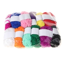 Line for Cushion 32CF Cord Thread Yarn Crochet Fiber Knitting Manual Acrylic Wool Assorted-Colors
